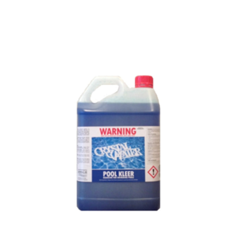 Pool Chemicals, Crystal Water	Pool Kleer Algaecide & Winteriser	2.5L. Controls and eliminates algae in swimming pools.