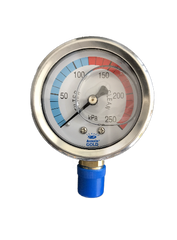 Pressure Gauge LM Oil Filled - Lower Mount - Stainless Steel