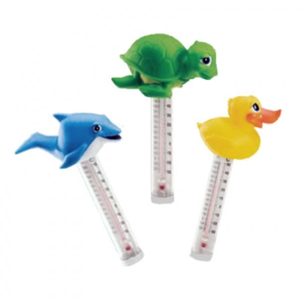 Pool Accessories, Pool Chemicals Direct	Floating Thermometers. Available in dolphin, turtle and duck.