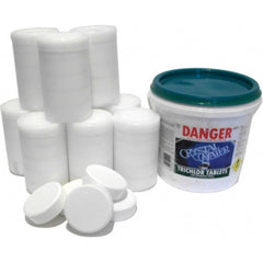 Pool Chemicals, Crystal Water	Trichlor 200g 50 Tablets. Chlorine tablets are a convenient and simple way of adding stabilized chlorine to your pool.