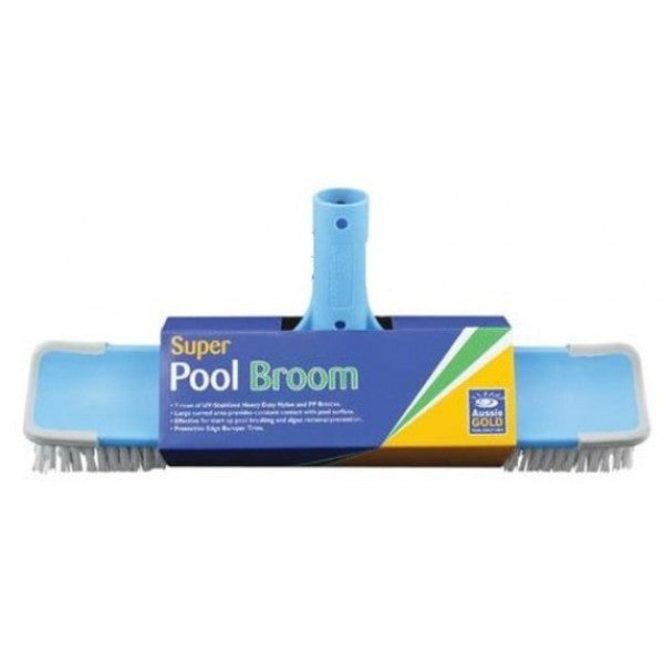 Pool Accessories, Aussie Gold	Super Pool Broom. Ideal all-surface broom. Effective for start-up pool brushing and algae removal/prevention.