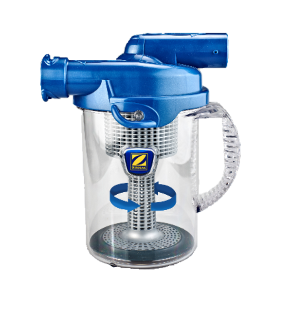 Pool Cleaners, Zodiac Cyclonic Leaf Catcher. It collects leaves, seeds and larger debris with maximum suction power with no extra strain on pump to help prevent build-up in the skimmer basket.