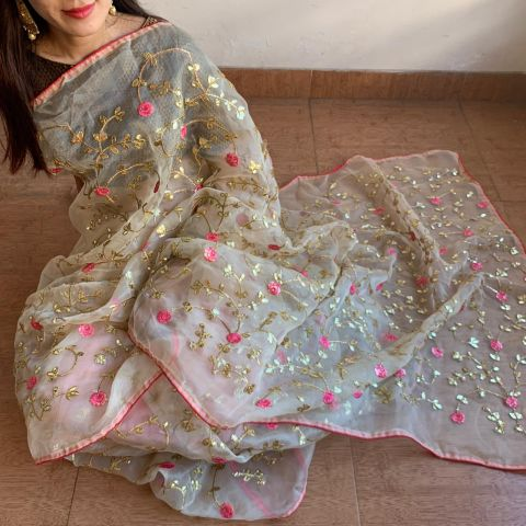 Sold Mixed Fabric Saree