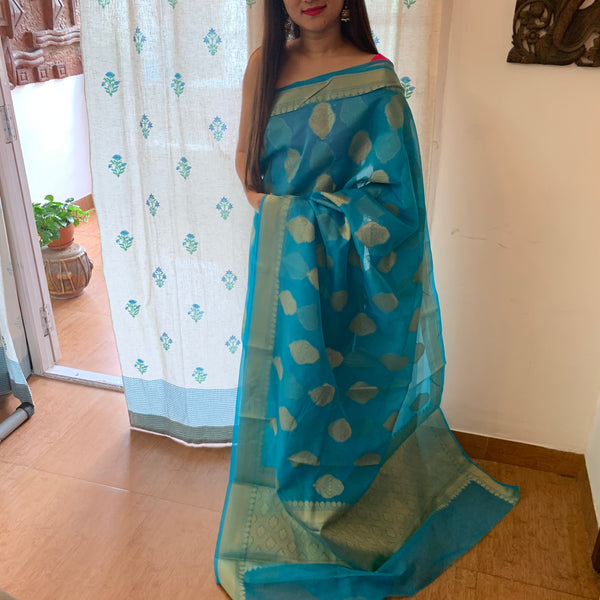 Mixed Fabric Saree