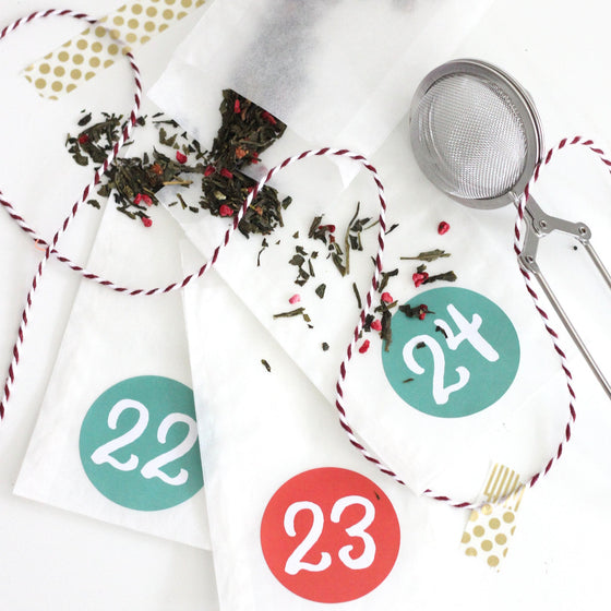 Gift - DIY Tea Advent Calendar Kit