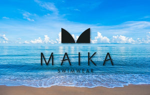 Maika Swimwear Logo Women's clothing and activewear, swim suits, leggings,