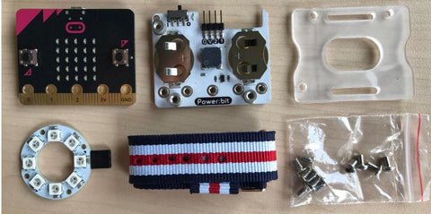 Components from Power:bit Watch Kit on GetHacking Online Store