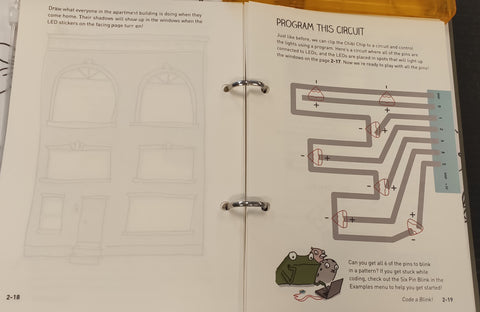 Creative page to encourage kids to create their own circuit