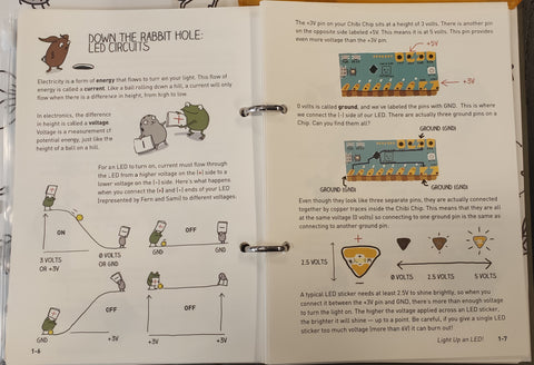 "Explanation on how circuits work with ""Love to Code"" book"
