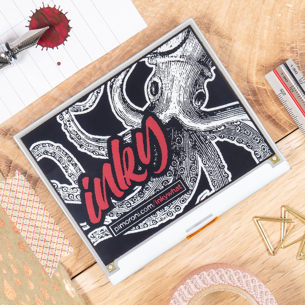 Inky wHAT (ePaper/eInk/EPD) Red/Black/White