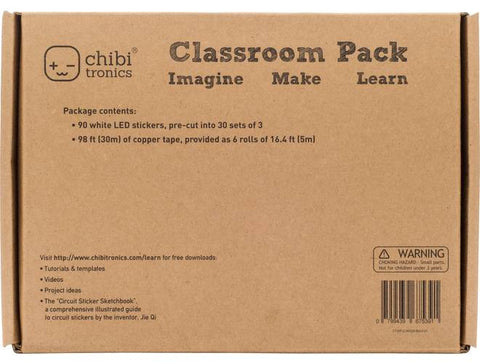 Chibitronics Circuit Stickers (White) Classroom Pack