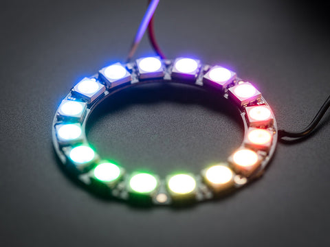NeoPixel Ring - 16 x 5050 RGB LED with Integrated Drivers