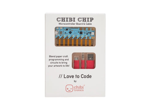 "Chibi Chip ""Love To Code"" for Circuit Stickers"