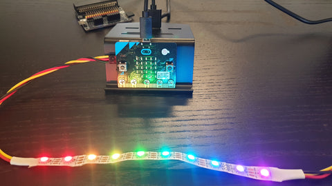 10-RGB LED Strip, WS2812B, Individually Programmable, Chainable