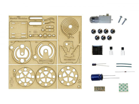The Solarbotics Solar Marble Machine Kit