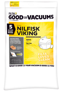 FILTA NILFISK VIKING MICROFIBRE VACUUM CLEANER BAGS 5 Pack - Sold by Single Unit in multiples of 1 Single Unit (C012)