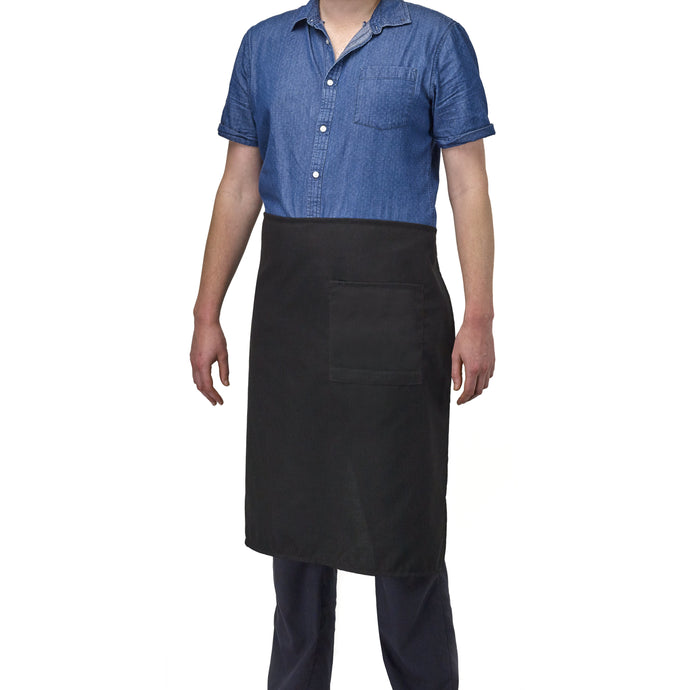 FILTA FULL LENGTH WAIST APRON WITH POCKET BLACK