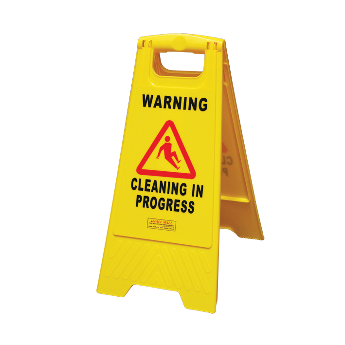 "GALA A-FRAME SAFETY SIGN - ""CLEANING IN PROGRESS"" YELLOW"