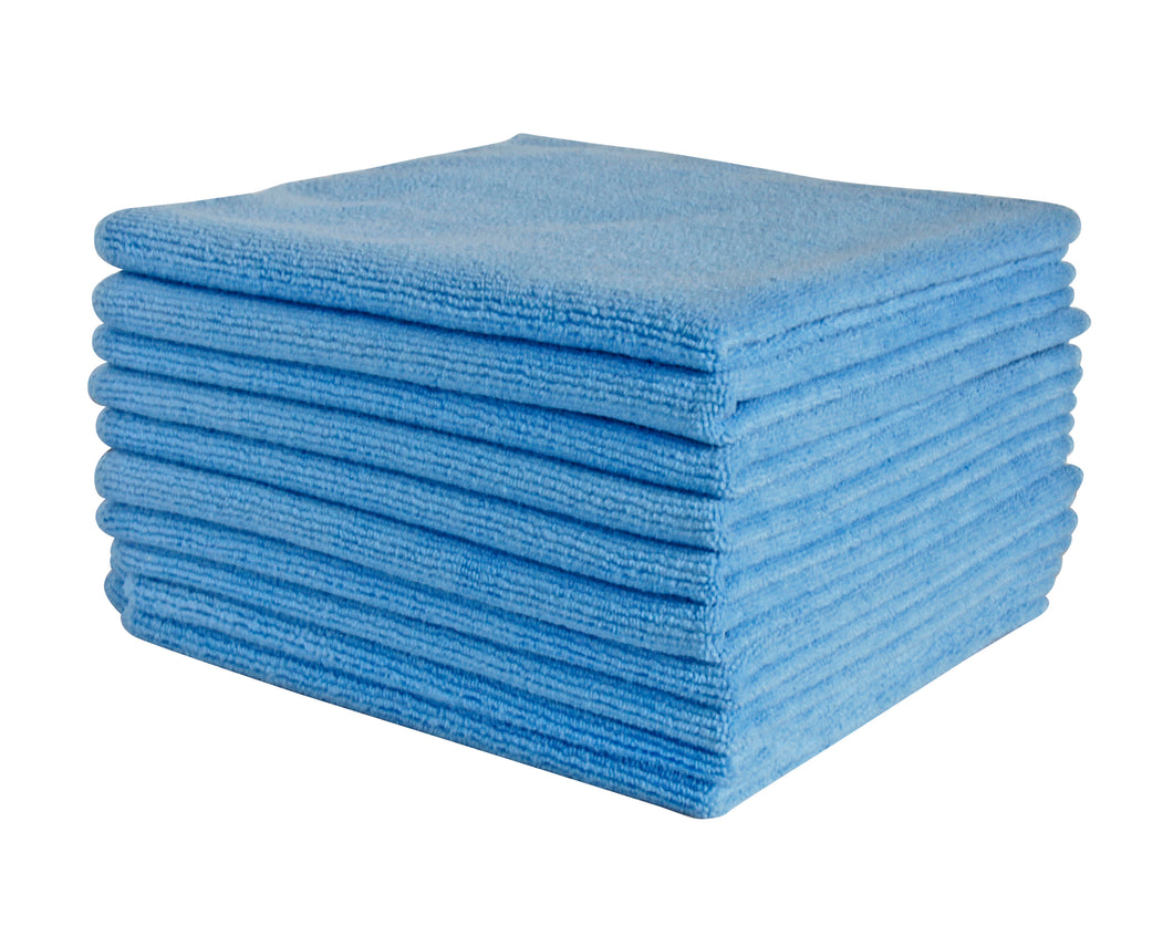 FILTA COMMERCIAL MICROFIBRE CLOTH Blue 40cm x 40cm - Sold by Single Unit in multiples of 10