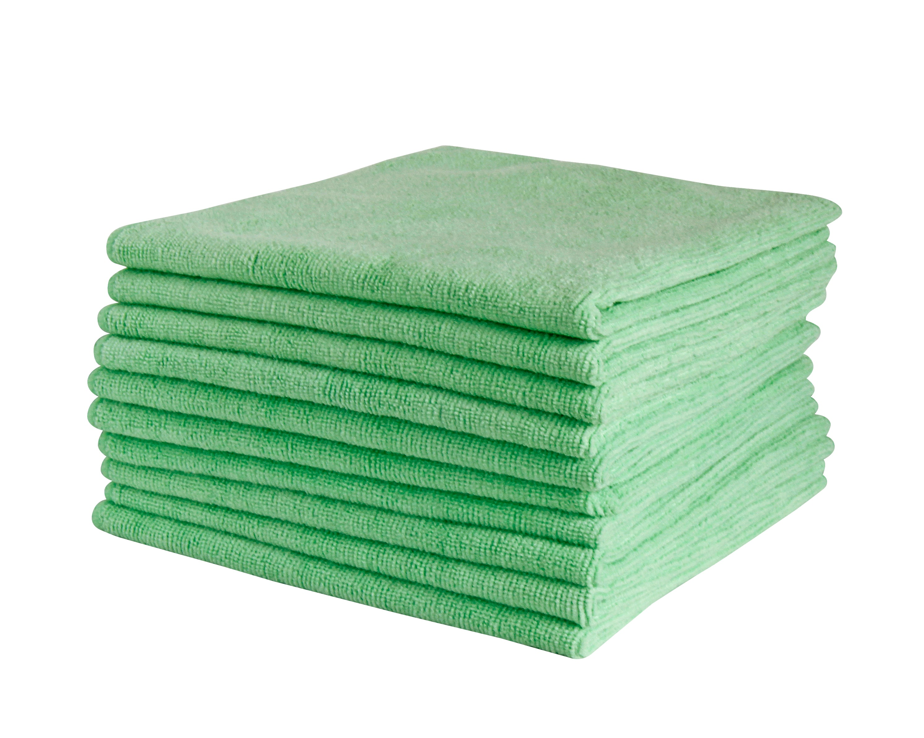 FILTA COMMERCIAL MICROFIBRE CLOTH Green 40cm x 40cm - Sold by Single Unit in multiples of 10