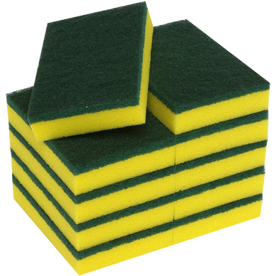 FILTA SPONGE SCOURER GREEN / YELLOW - 6X4 INCH / 150X100MM