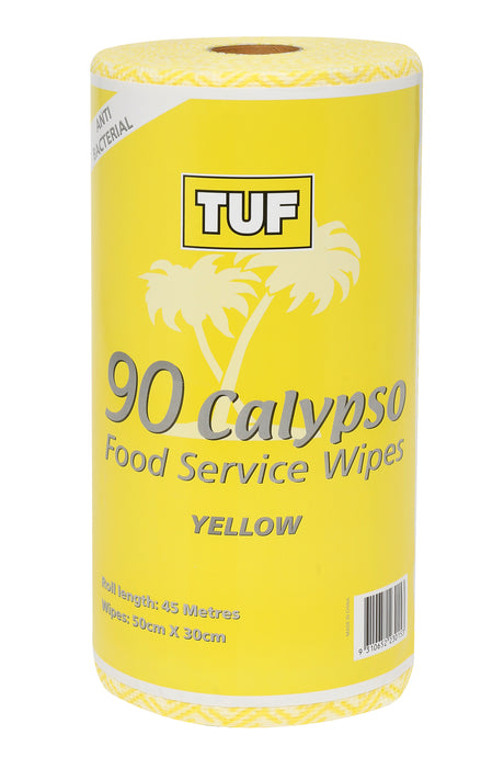 EDCO TUF CALYPSO FOOD SERVICE WIPES ROLL YELLOW