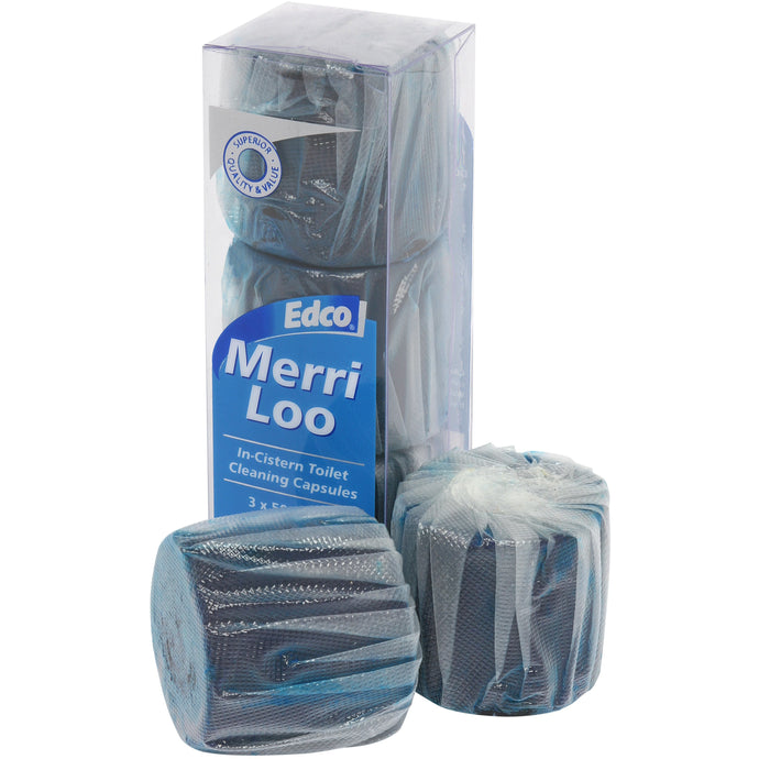 EDCO MERRI LOO IN CISTERN CAPSULES 3 Pack - Sold by Carton in multiples of 12 Carton
