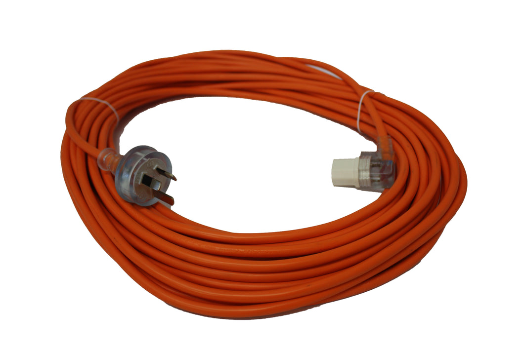 FILTA CABLE - 3 CORE - 3 PIN PLUG Orange 1.0mm x 20m - Sold by Single Unit in multiples of 1 Single Unit