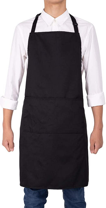 FILTA BIB APRON WITH POCKET BLACK