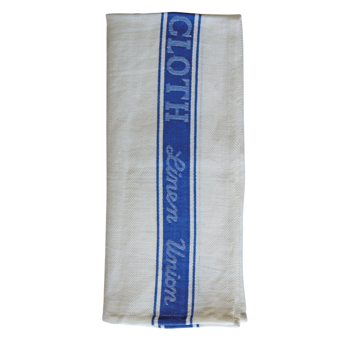 FILTA GLASS CLOTH TEA TOWEL 50% LINEN 50% COTTON BLUE (55CM X 80CM)