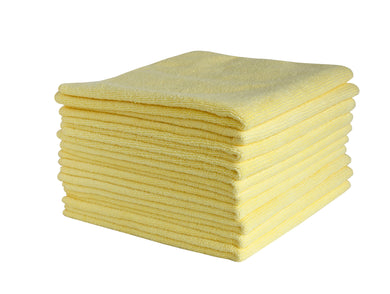 FILTA COMMERCIAL MICROFIBRE CLOTH Yellow 40cm x 40cm - Sold by Single Unit in multiples of 10