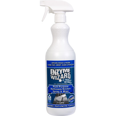 ENZYME WIZARD KITCHEN & BATHROOM 1 Litre - Sold by Bottle in multiples of 9 Bottles