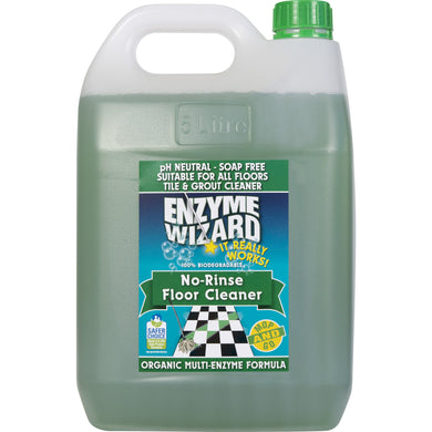 ENZYME WIZARD NO RINSE FLOOR CLEANER 5 Litre - Sold by Bottle in multiples of 3 units