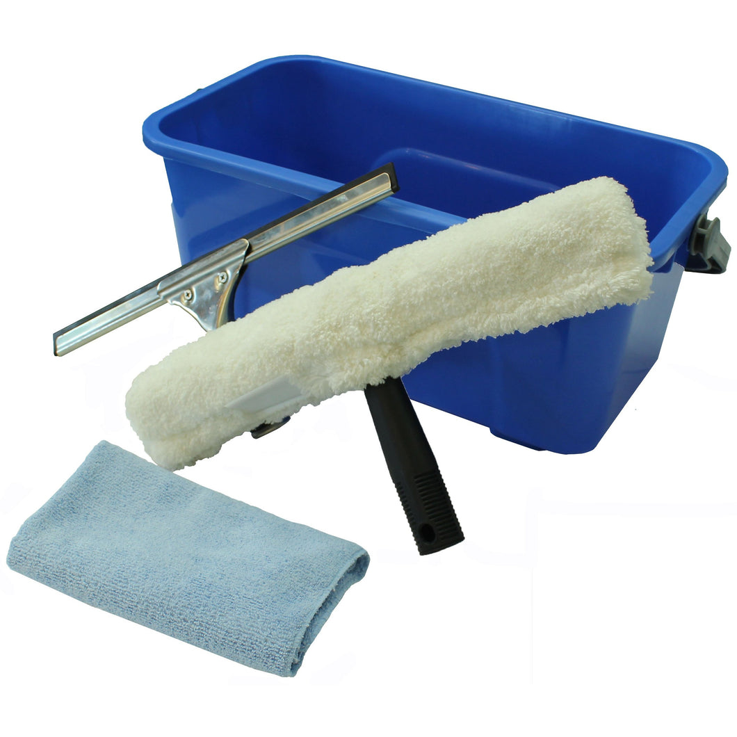 FILTA WINDOW CLEANING KIT & 12 LITRE BLUE BUCKET
