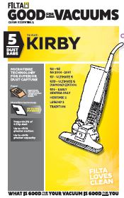 FILTA KIRBY MICROFIBRE VACUUM CLEANER BAGS 5 PACK (F070)