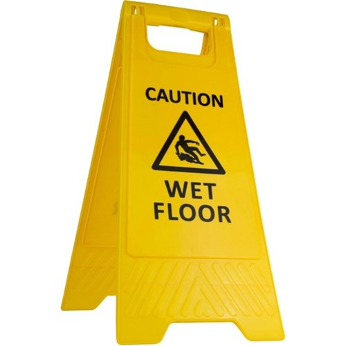 "GALA A-FRAME SAFETY SIGN - ""WET FLOOR"" YELLOW"