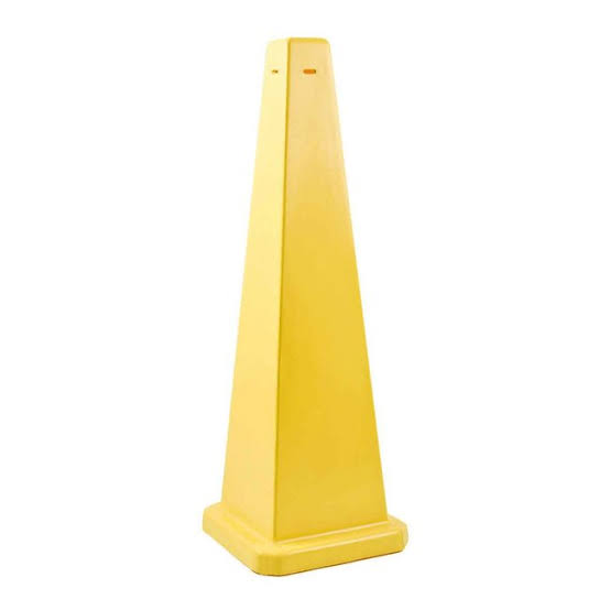 GALA SAFETY CONE - BLANK YELLOW 900MM