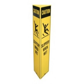 "FILTA SAFETY BOLLARD SIGN ""WET FLOOR"" - YELLOW"
