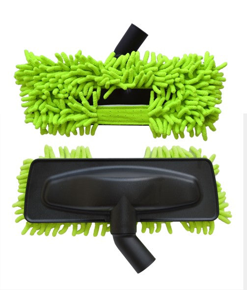FILTA DUST MOP FLOOR TOOL WITH MICROFIBRE PAD 32MM X 320MM WIDE - BLACK & GREEN