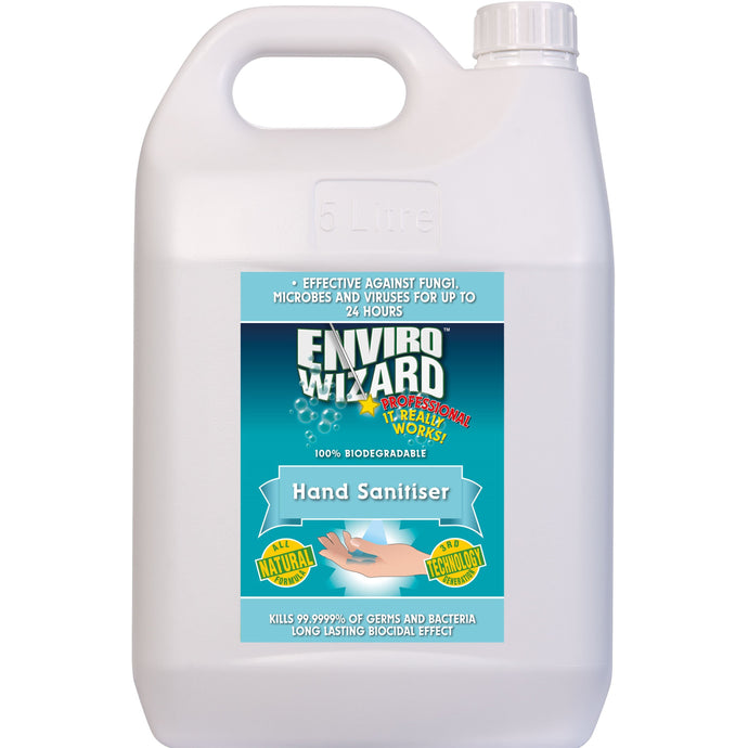 ENVIRO WIZARD HAND SANITISER 5 Litre - Sold by Bottle in multiples of 3 units