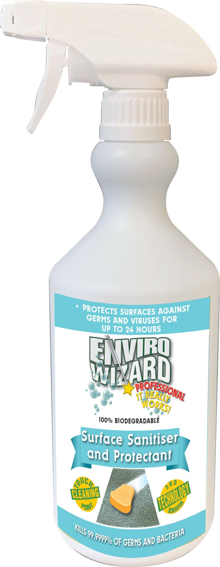ENVIRO WIZARD SURFACE SANITISER 750ML