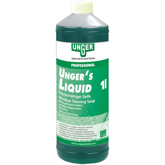 UNGER LIQUID GLASS CLEANER 1 LITRE