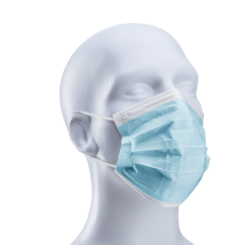 FILTA 3-PLY NON-WOVEN FACE MASK - WHITE/BLUE WITH EARLOOPS