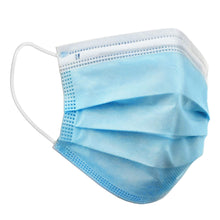 Load image into Gallery viewer, FILTA 3-PLY NON-WOVEN FACE MASK - WHITE/BLUE WITH EARLOOPS
