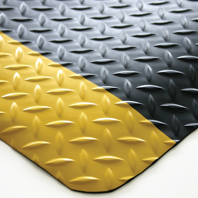 DIAMOND PLATE - 900mm X 600mm - Black/Yellow