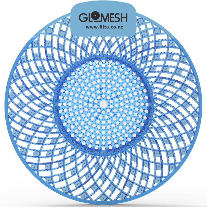 GLOMESH Spiral Biological Urinal Screen with Anti Splash - Mountain Air