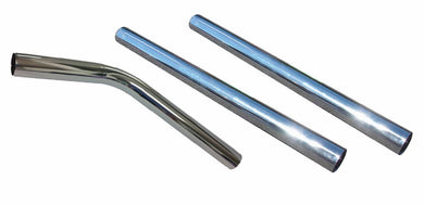 FILTA 3 PIECE PIPE SET - STAINLESS STEEL - 38MM (1 X CURVED, 2 X STRAIGHT)