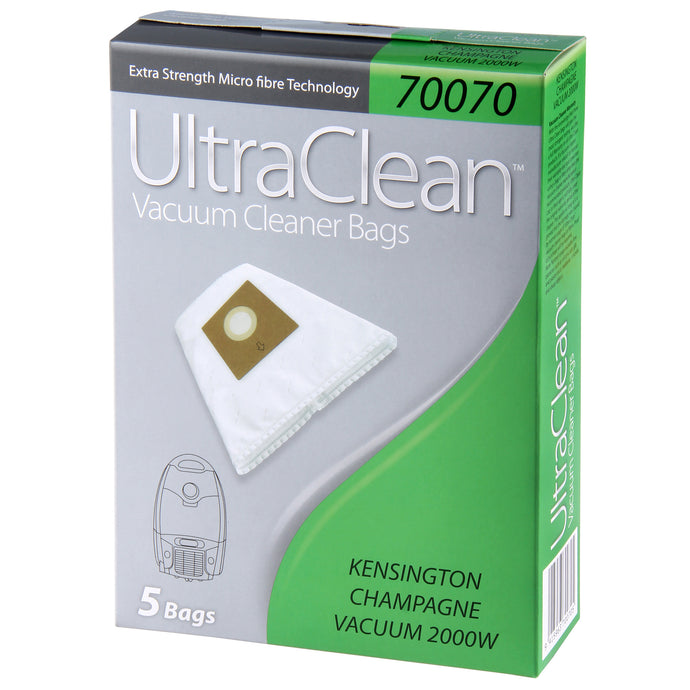 ULTRA CLEAN ULTRA CLEAN KENSINGTON CHAMPAGNE VACUUM BAGS 5 Pack - Sold by Box in multiples of 1 Box