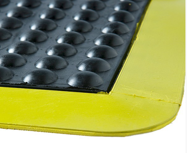 BUBBLE MAT - 900mm X 600mm - Black/Yellow