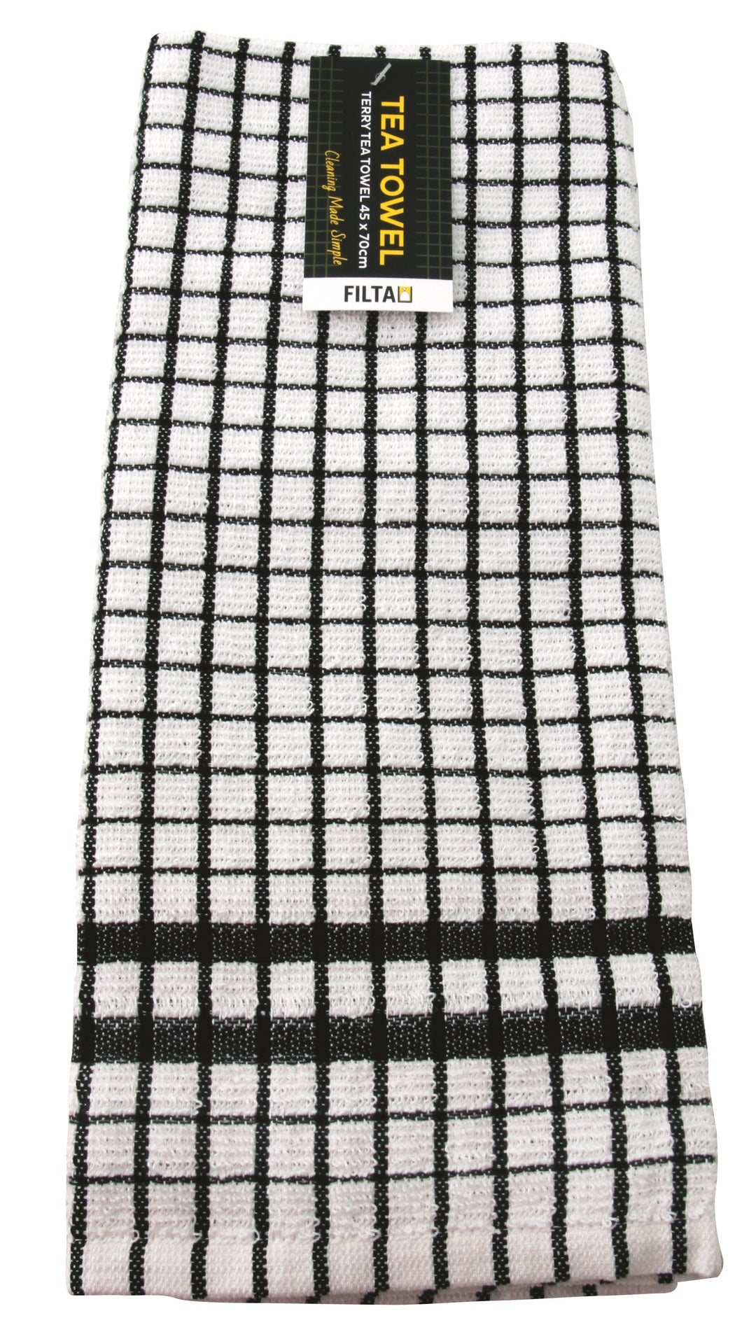 FILTA COTTON TEA TOWEL TERRY BLACK (45CM X 70CM)